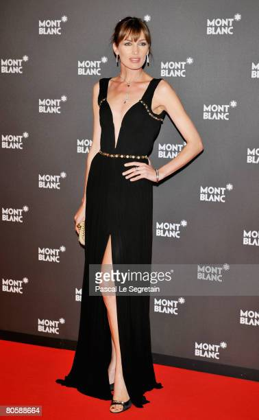 Model Nieves Alvarez attends the 'Writing Time', Robert Wilson's watch launch gala hosted by Montblanc during the Salon International de la Haute...