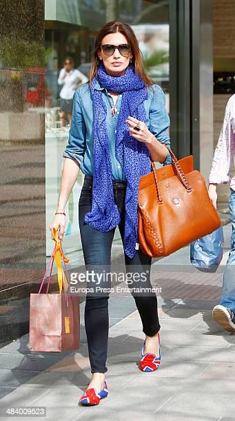 Model Nieves Alvarez is seen on April 10 2014 in Madrid Spain