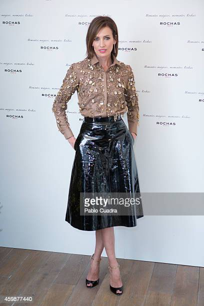 Model Nieves Alvarez poses during a photocall to present the new Rochas Tv spot for Christmas on December 3 2014 in Madrid Spain