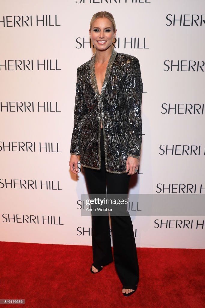 Model Niki Taylor attends the Sherri Hill NYFW SS18 runway show at Gotham Hall on September 12, 2017 in New York City.