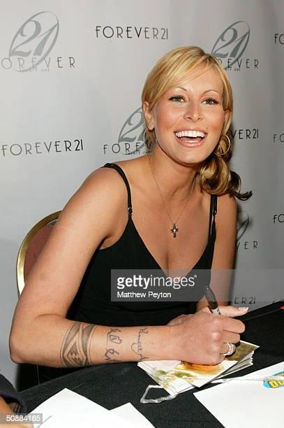 Model Niki Taylor hosts Forever 21 Open Model Casting Call at Hammerstein Ballroom May 21 2004 in New York City