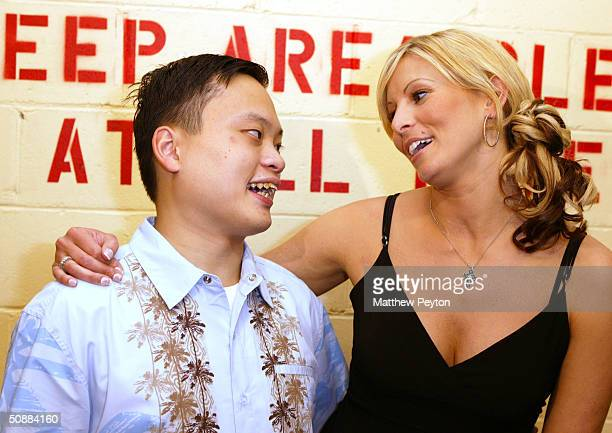 Model Niki Taylor poses with former American Idol contestant William Hung Forever 21 Open Model Casting Call at Hammerstein Ballroom May 21 2004 in...
