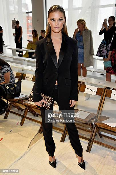 Model Nina Agdal attends Diane Von Furstenberg Spring 2016 fashion show  during New York Fashion Week 7d46764e9