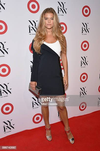 Model Nina Agdal attends Target IMG's NYFW kickoff at The Park at Moynihan Station on September 6 2017 in New York City