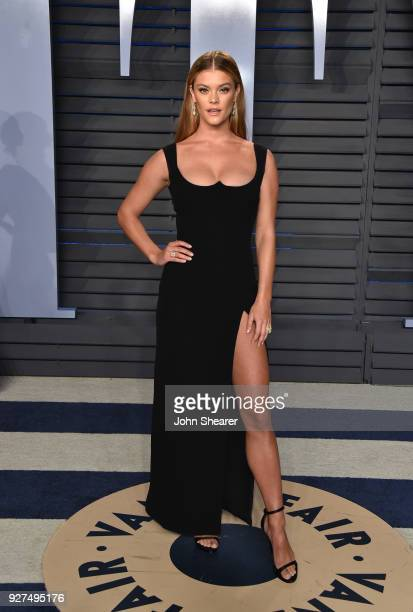 Model Nina Agdal attends the 2018 Vanity Fair Oscar Party hosted by Radhika Jones at Wallis Annenberg Center for the Performing Arts on March 4 2018...
