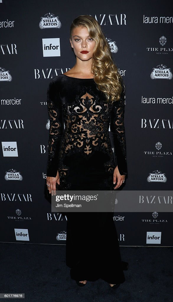 Model Nina Agdal attends the Harper's BAZAAR celebrates 'ICONS By Carine Roitfeld' at The Plaza Hotel on September 9, 2016 in New York City.