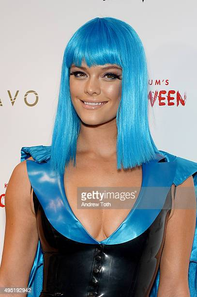 Model Nina Agdal attends the Heidi Klum Halloween Party on October 31 2015 in New York City