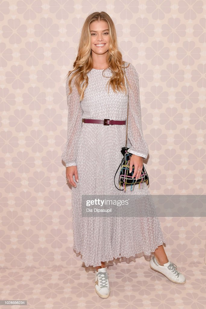 Model Nina Agdal attends the Kate Spade New York Fashion Show during New York Fashion Week at New York Public Library on September 7, 2018 in New York City.