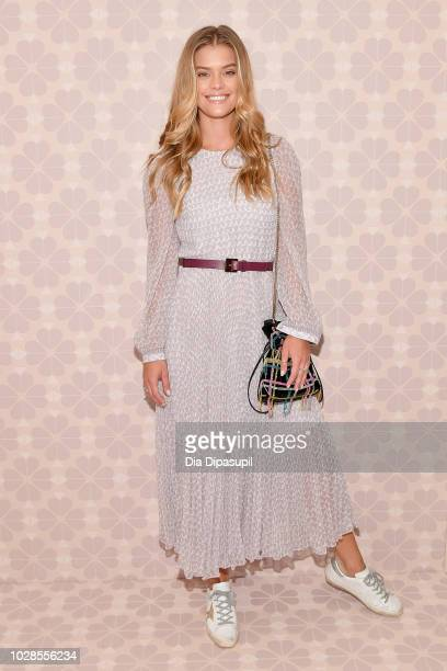 Model Nina Agdal attends the Kate Spade New York Fashion Show during New York Fashion Week at New York Public Library on September 7, 2018 in New...