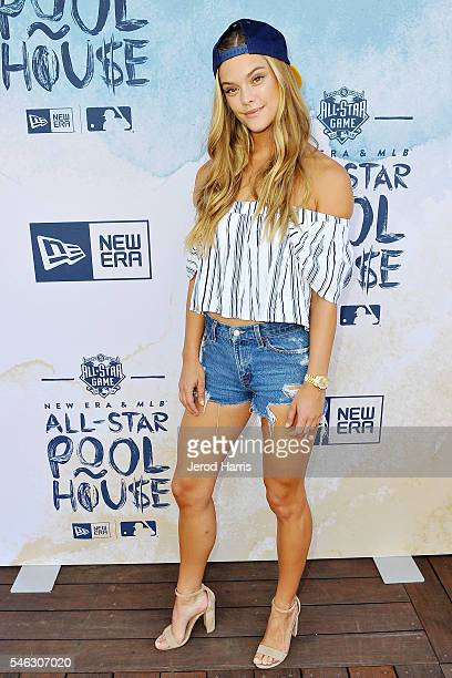 Model Nina Agdal attends the New Era Pool House at MLB AllStar Week at Palomar Hotel on July 11 2016 in San Diego California