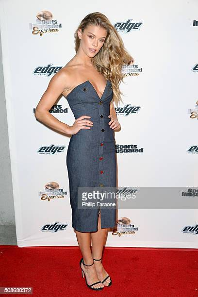 Model Nina Agdal attends the Sports Illustrated Experience Friday Night Party on February 5 2016 in San Francisco California