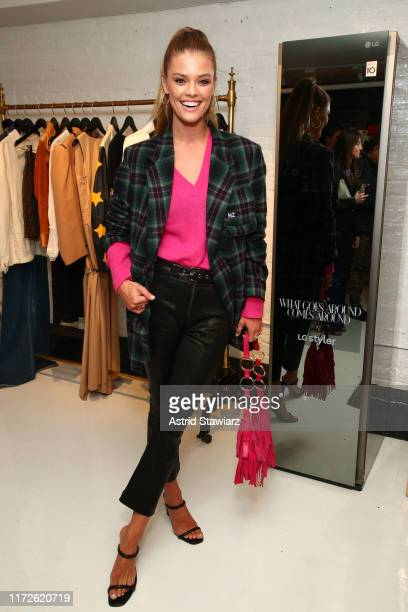 Model Nina Agdal attends the WGACA x LG NYFW Partnership Launch Event on September 05, 2019 in New York City.
