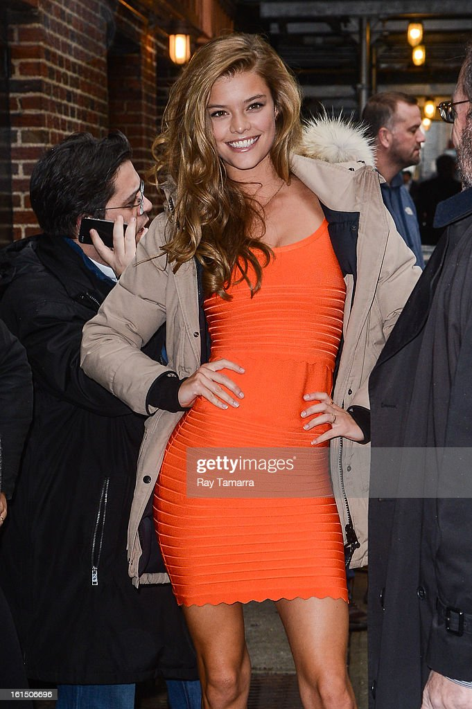 Model Nina Agdal enters the 'Late Show With David Letterman' taping at the Ed Sullivan Theater on February 11, 2013 in New York City.