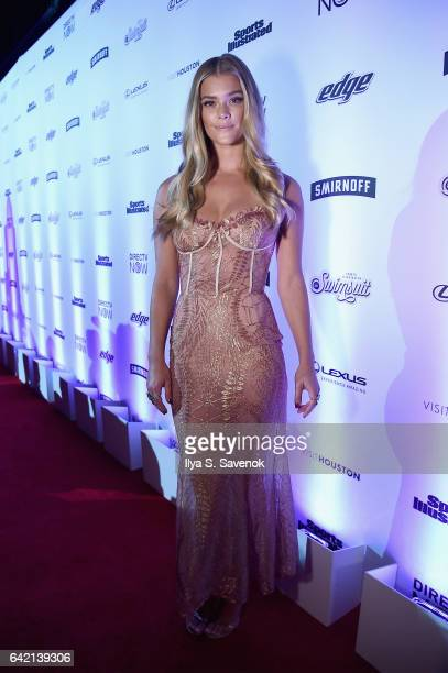Model Nina Agdal partners with Edge Shave Gel to celebrate the launch of this year's Sports Illustrated Issue on February 16 2017 in New York City