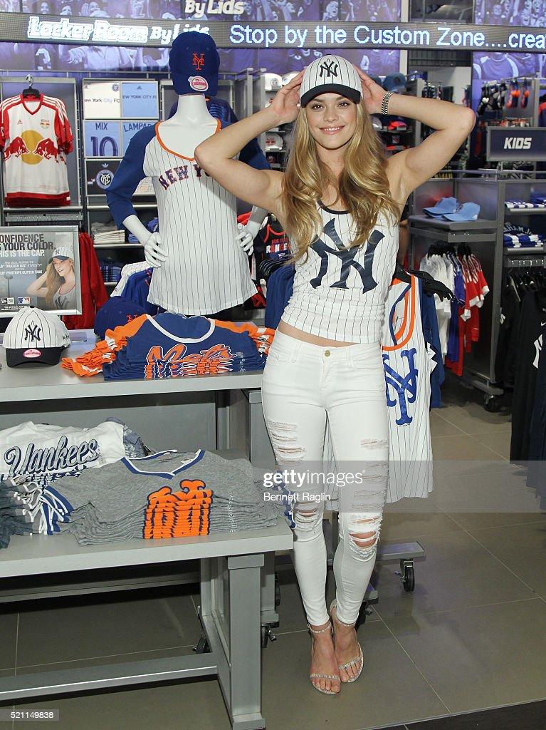 Model Nina Agdal Visits Macy's at Macy's Herald Square on April 14, 2016 in New York City.