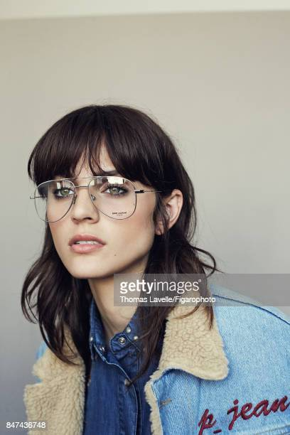 Model Nina K poses at a fashion shoot for Madame Figaro on July 17 2017 in Paris France Jacket shirt sunglasses PUBLISHED IMAGE CREDIT MUST READ...
