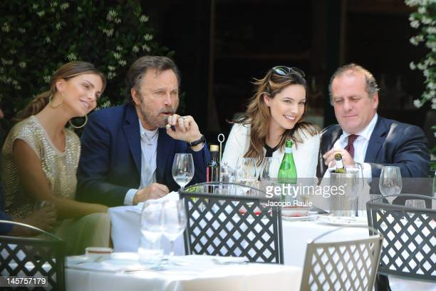 Model Nina Senicar actors Franco Nero Kelly Brook and producer and director Pascal Vicedomini are seen on June 5 2012 in Milan Italy