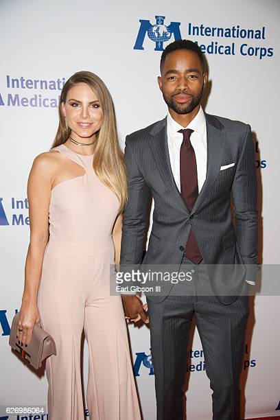 Model Nina Senicar and Actor Jay Ellis attend the International Medical Corps Annual Awards Celebration on November 30 2016 in Beverly Hills...
