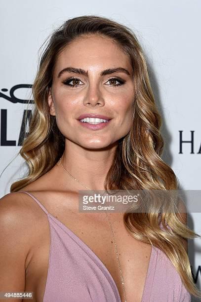 Model Nina Senicar attends amfAR's Inspiration Gala Los Angeles at Milk Studios on October 29 2015 in Hollywood California