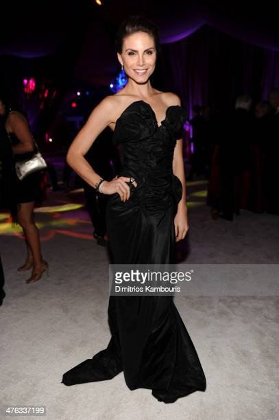 Model Nina Senicar attends the 22nd Annual Elton John AIDS Foundation Academy Awards Viewing Party at The City of West Hollywood Park on March 2 2014...