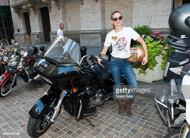 Model Nina Senicar visits the New York Stock Exchange opening bell at New York Stock Exchange on August 3 2016 in New York City