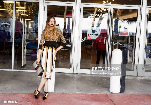 Model Noa Zijlmans is photographed for Madame Figaro on December 2 2017 in Miami Florida Pullover skirt bag and PUBLISHED IMAGE CREDIT MUST READ...