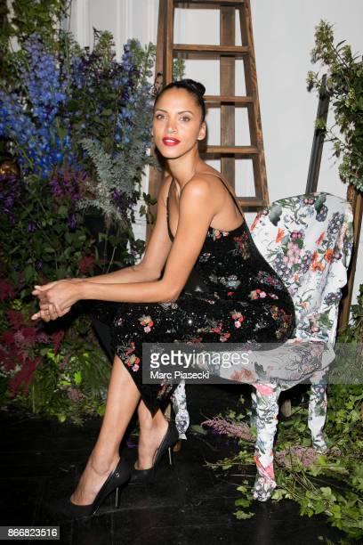 Model Noemie Lenoir attends the 'ERDEM X HM' Paris Collection Launch at Hotel du Duc on October 26 2017 in Paris France