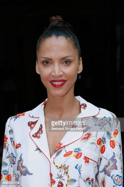 Model Noemie Lenoir attends the JeanPaul Gaultier 'Scandal' Fragrance Launch at Hotel de Behague on June 15 2017 in Paris France