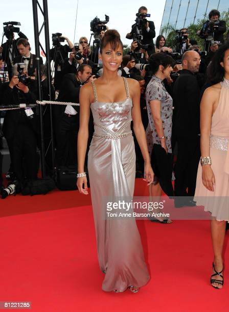 Model Noemie Lenoir attends the 'Synecdoche New York' premiere at the Palais des Festivals during the 61st International Cannes Film Festival on May...