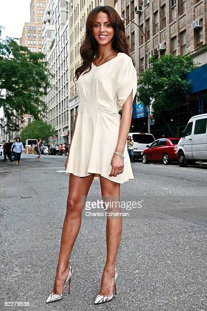 """Model Noemie Lenoir attends """"The Tyra Banks Show"""" celebration of the first all black model issue of Vogue Italia on August 12, 2008 in New York City."""