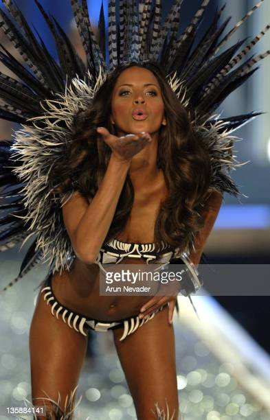 Model Noemie Lenoir wearing Victoria's Secret at the 12th Victoria's Secret Fashion show at the Kodak Theater on November 15 2007 in Hollywood...
