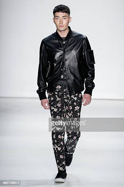 Model Noma Han walks the runway at the Ovadia & Sons Collection during New York Fashion Week: Men's S/S 2016 at Skylight Clarkson Sq on July 14, 2015...