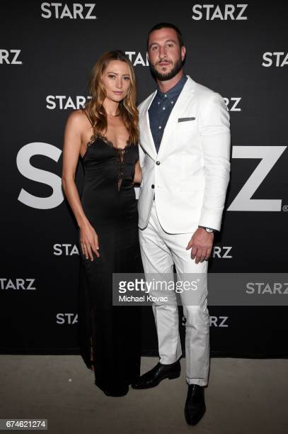 Model Noot Seear and actor Pablo Schreiber attends the American Gods FYC event at Saban Media Center on April 28 2017 in North Hollywood California