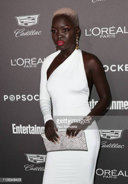 Model Nyakim Gatwech attends the Entertainment Weekly Pre-SAG party at Chateau Marmont on January 26, 2019 in Los Angeles, California.