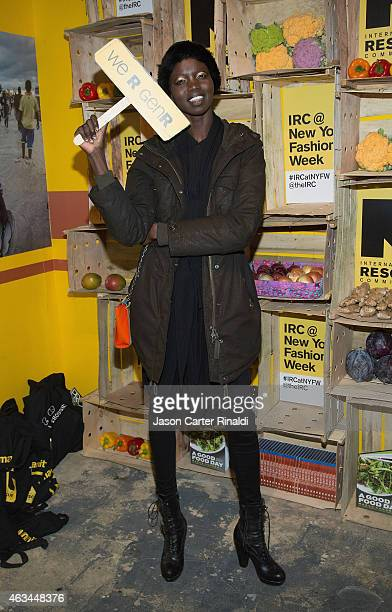 Model Nykhor Paul attends IRC Fashion Week PopUp and Photo Exhibition at Empire Hotel on February 14 2015 in New York City