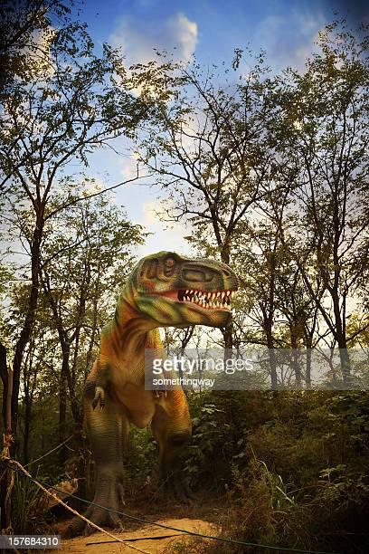 Modell eines Dinosaur Park
