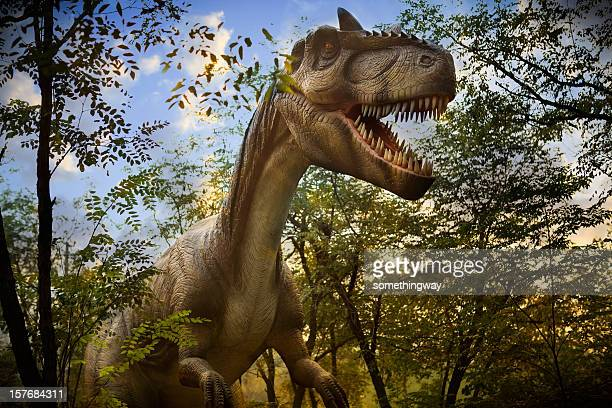 model of a dinosaur park - dinosaur stock pictures, royalty-free photos & images
