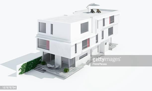 3 D Modell eines modernen Haus