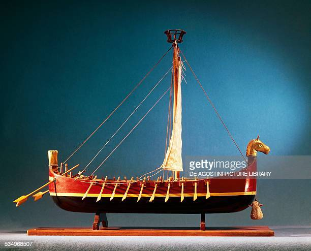 Model of a Phoenician cargo ship Phoenician civilisation Milan Civico Museo Navale Didattico