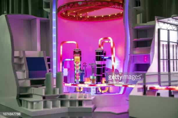 A model of a reactor is displayed inside a simulation laboratory at China General Nuclear Power Corp's State Key Laboratory of Nuclear Power Safety...