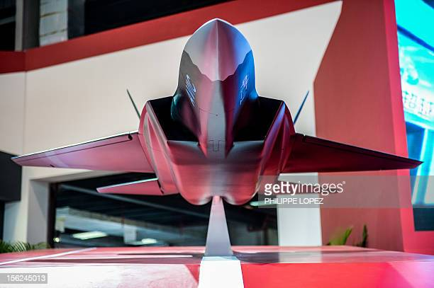 A model of a stealth plane from China Aerospace Science and Industry Corporation is displayed on the eve of the ninth China International Aviation...