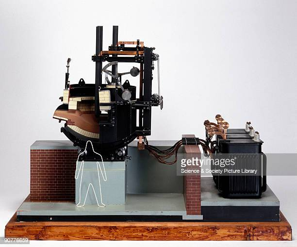 Model of a steelmaking furnace designed by Paul Heroult the inventor of the first direct arc electric steelmaking furnace Heroult's pioneering...