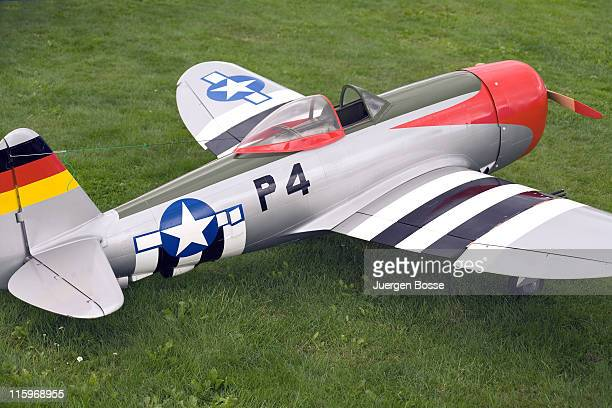 Model of a vintage american warbird