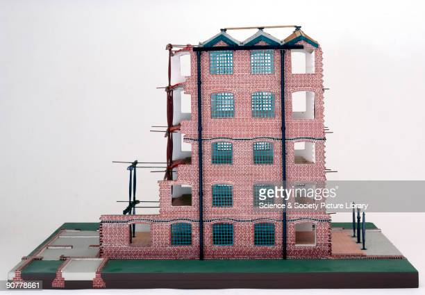 Model of Bage�s flax mill at Shrewsbury in Shropshire constructed by Cecil A Hewett Ditherington was built in 17967 as part of the empire that was...