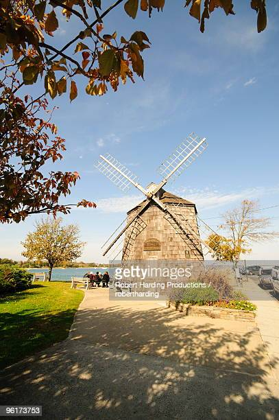 model of beebe windmill, sag harbor, the hamptons, long island, new york state, united states of america, north america - sag harbor stock photos and pictures