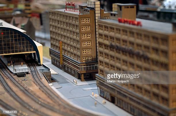Model of buildings near train station