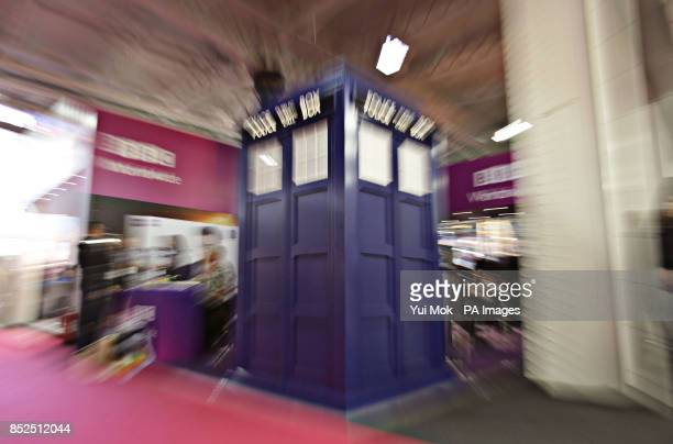 A model of Dr Who's TARDIS on display at the BBC Worldwide stand at the Brand Licensing Europe exhibition at Olympia in west London