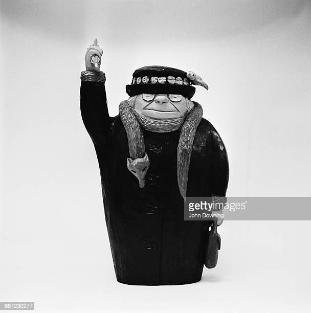 Model of Grandma, the matriarch of the Giles Family created by British cartoonist Carl Giles, aka Giles, UK, 8th October 1971. Clad in her...