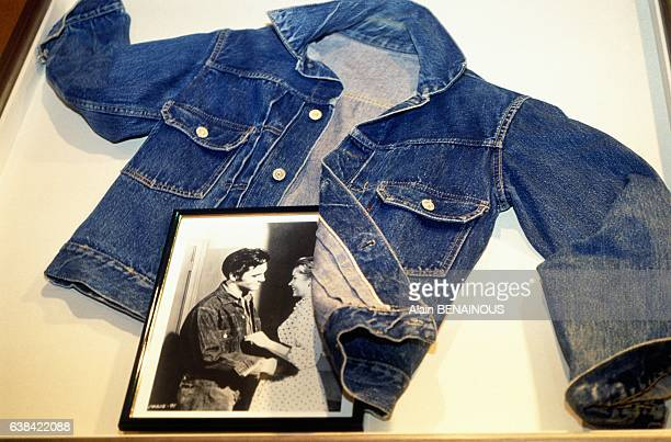 Model of jacket which Elvis Presley used to wear at Levi's vintage exhibition in Paris France in September 1992