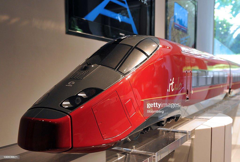 A model of Nuovo Trasporto Viaggiatori S p A  high-speed